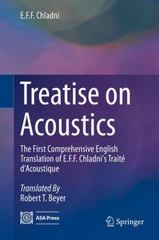Treatise on Acoustics 1st Edition 9783319203614 3319203614