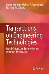 Transactions on Engineering Technologies 1st Edition 9789401772358 9401772355