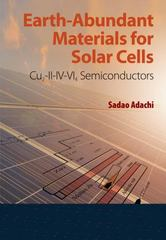 Earth-Abundant Materials for Solar Cells 1st Edition 9781119052777 1119052777