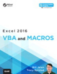 Excel 2016 VBA and Macros (includes Content Update Program) 1st Edition 9780134385310 0134385314