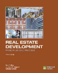 Real Estate Development 5th Edition 9780874203431 0874203430