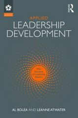 Applied Leadership Development 1st Edition 9781138952065 1138952060
