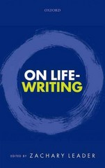 On Life-Writing 1st Edition 9780191009037 0191009032