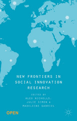New Frontiers in Social Innovation Research 1st Edition 9781137506795 1137506792