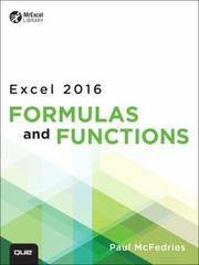 Excel 2016 Formulas and Functions (includes Content Update Program) 1st Edition 9780789755643 0789755645