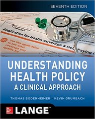 Understanding Health Policy 7th Edition 9781259584756 1259584755