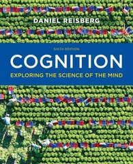 Cognition 6th Edition 9780393271027 0393271021