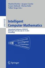 Intelligent Computer Mathematics 1st Edition 9783319206141 3319206141