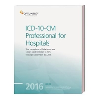 ICD-10-CM Professional for Hospitals 2016 1st Edition 9781622540372 1622540379