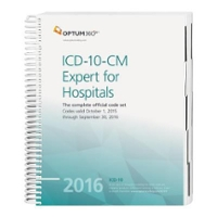 ICD-10-CM Expert for Hospitals 2016 1st Edition 9781622540402 1622540409