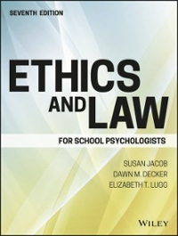 Ethics and Law for School Psychologists 7th Edition 9781119157069 1119157064