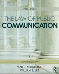 The Law of Public Communication 9th Edition 9781317361619 131736161X
