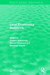 Land Economics Research 1st Edition 9781317340430 1317340434