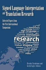 Signed Language Interpretation and Translation Research 1st Edition 9781563686481 1563686481