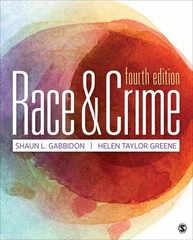 Race and Crime 4th Edition 9781483384184 1483384187