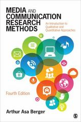 Media and Communication Research Methods 4th Edition 9781483377568 1483377563
