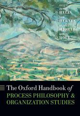 The Oxford Handbook of Process Philosophy and Organization Studies 1st Edition 9780198746539 0198746539