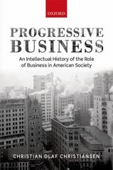 Progressive Business 1st Edition 9780198701033 0198701039