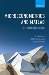 Microeconometrics and MATLAB: An Introduction 1st Edition 9780198754497 0198754493