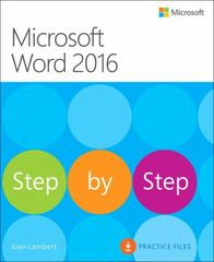 Microsoft Word 2016 Step By Step 1st Edition 9780735699465 0735699461