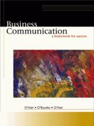 Business Communication 1st edition 9780324073508 032407350X