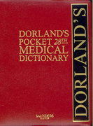 Dorland's Pocket Medical Dictionary with CD-ROM 28th Edition 9781416034209 141603420X
