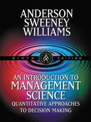 An Introduction to Management Science 9th edition 9780324003215 0324003218