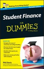 Student Finance For Dummies - UK 1st Edition 9781119075851 1119075858