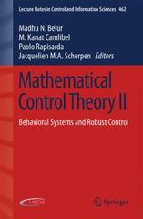 Mathematical Control Theory II 1st Edition 9783319210032 3319210033