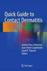 Quick Guide to Contact Dermatitis 1st Edition 9783662477137 3662477130