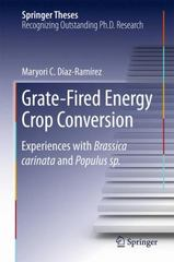 Grate-Fired Energy Crop Conversion 1st Edition 9783319207582 331920758X