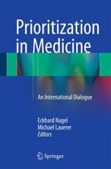 Prioritization in Medicine 1st Edition 9783319211114 3319211110
