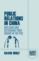 Public Relations in China 1st Edition 9781137483812 1137483814