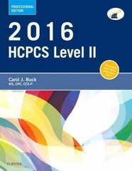 2016 HCPCS Level II Professional Edition 1st Edition 9780323389839 032338983X