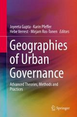 Geographies of Urban Governance 1st Edition 9783319212722 3319212729