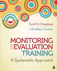 Monitoring and Evaluation Training 1st Edition 9781452288918 1452288917