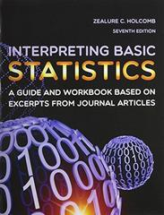 Interpreting Basic Statistics 7th Edition 9781936523320 1936523329