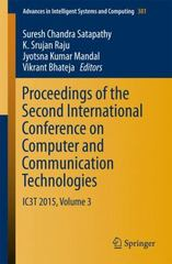 Proceedings of the Second International Conference on Computer and Communication Technologies 1st Edition 9788132225263 8132225260