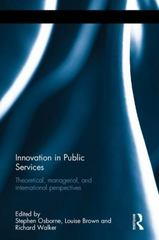 Innovation in Public Services 1st Edition 9781138949829 1138949825