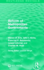 Reform of Metropolitan Governments 1st Edition 9781317336174 1317336178