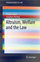 Altruism, Welfare and the Law 1st Edition 9783319216058 3319216058