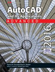 AutoCAD and Its Applications Advanced 2016 23th Edition 9781631264283 1631264281