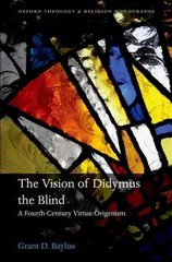 The Vision of Didymus the Blind 1st Edition 9780191065040 0191065048