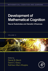 Development of Mathematical Cognition 1st Edition 9780128019092 0128019093