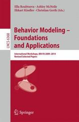 Behavior Modeling -- Foundations and Applications 1st Edition 9783319219127 331921912X