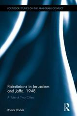 Palestinians in Jerusalem and Jaffa, 1948 1st Edition 9781138946538 1138946532