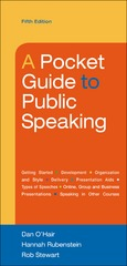 A Pocket Guide to Public Speaking 5th Edition 9781457670404 1457670402