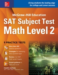 McGraw-Hill Education SAT Subject Test Math Level 1 4th Ed. 4th Edition 9781259583704 1259583708