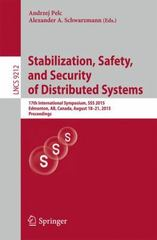 Stabilization, Safety, and Security of Distributed Systems 1st Edition 9783319217406 3319217402