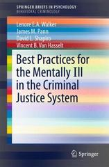 Best Practices Model for Intervention with the Mentally Ill in the Criminal Justice System 1st Edition 9783319216553 3319216554